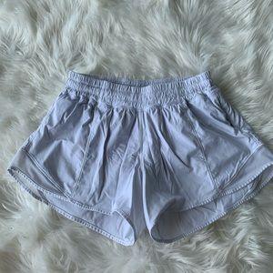 LULULEMON white hotty hot shorts